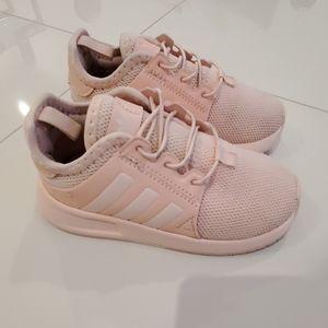 Pink Adidas toddler 8 soft sock sneaker